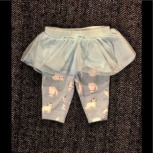 ⬇️Carters cat leggings with tutu attached for nb